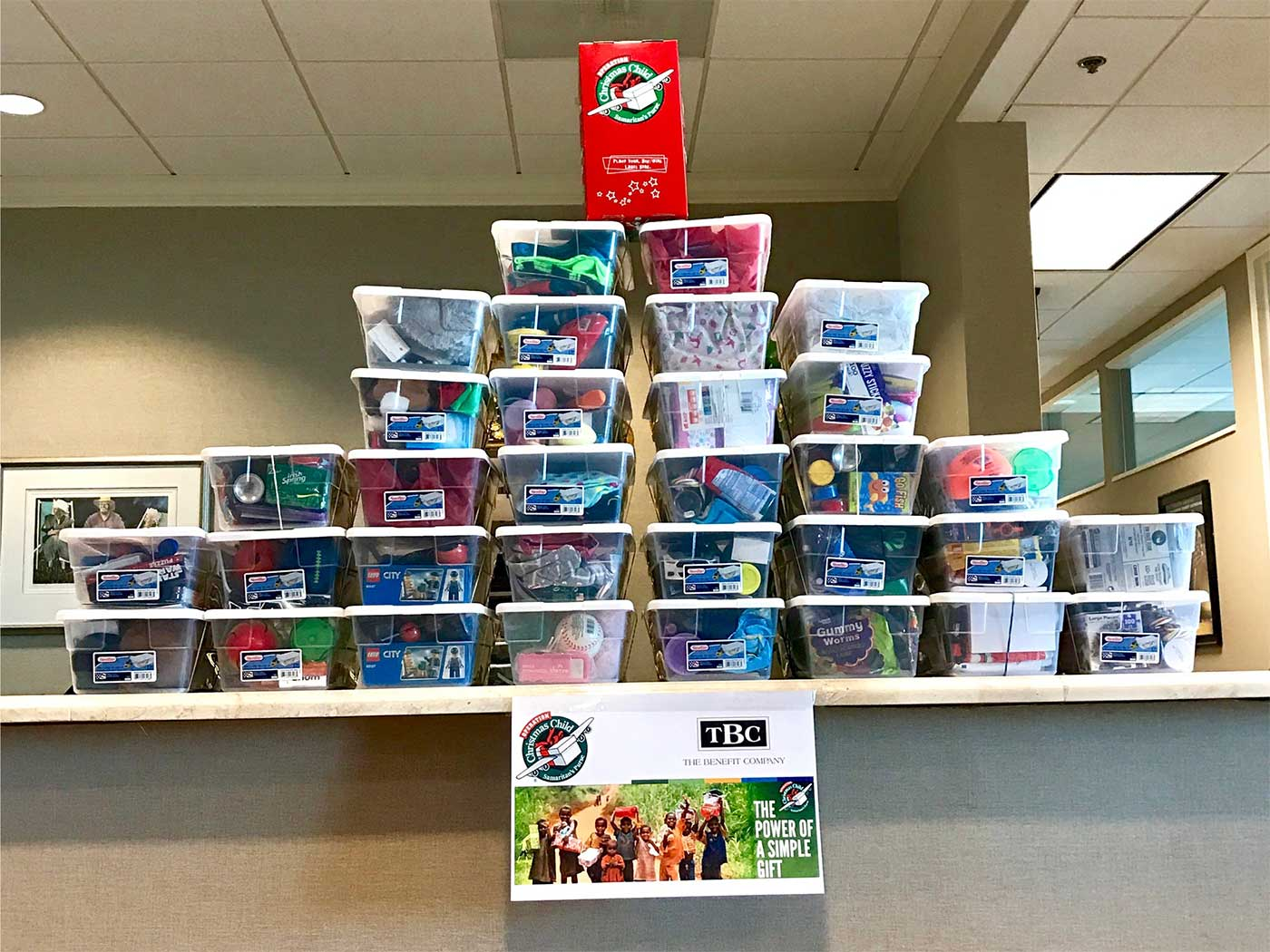 Boxes for Operation Christmas Child