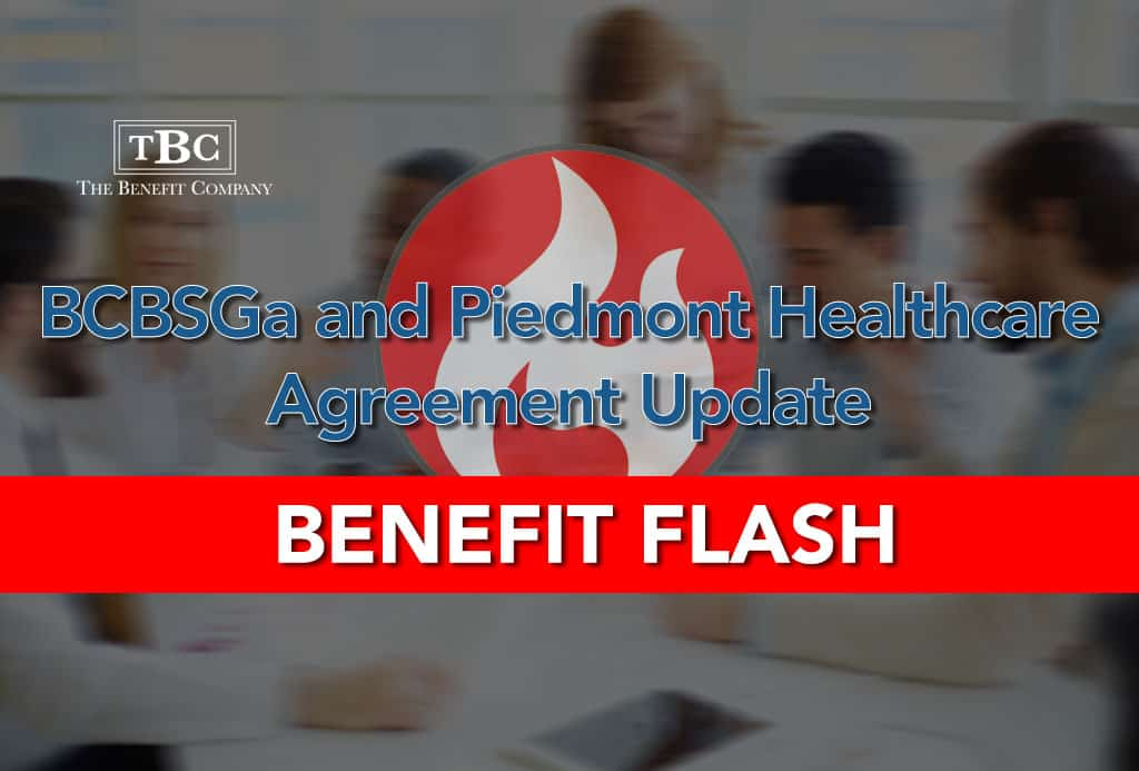 Bcbsga And Piedmont Healthcare Agreement Update The Benefit Company
